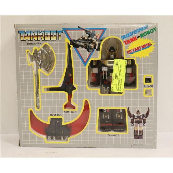 1980S TANKBOT TRANSFORMER ROBOT IN BOX