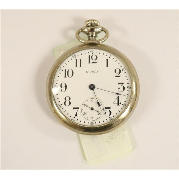 ANTIQUE US EQUITY POCKET WATCH WORKING