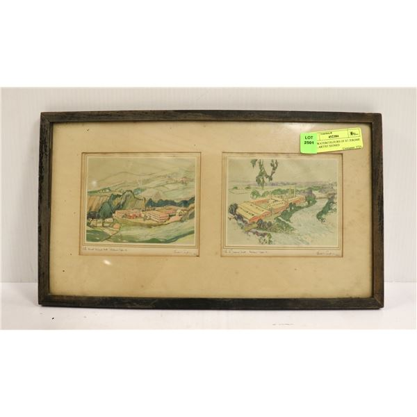 1907 WATERCOLOURS OF ST JEROME MILL ARTIST SIGNED