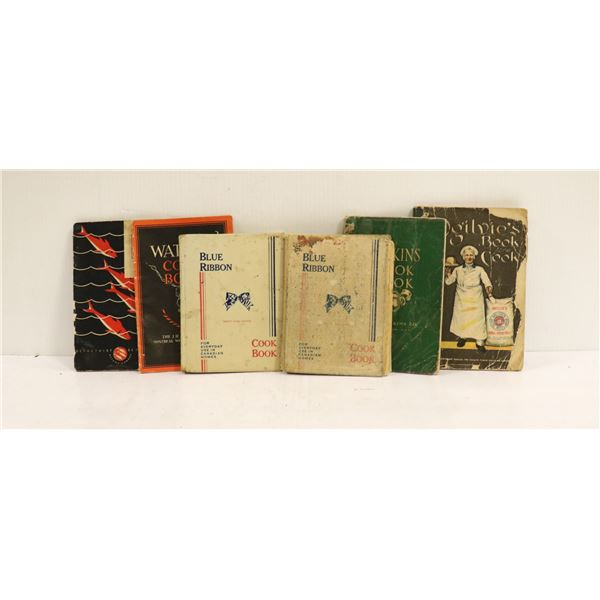 SELECTION OF ANTIQUE COOK BOOKS