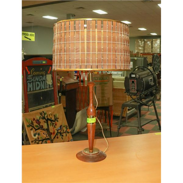 MID CENTURY MODERN TEAC TABLE LAMP
