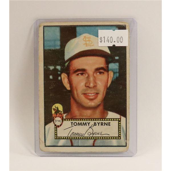 1952 TOPPS TOMMY BYRNE BASEBALL CARD