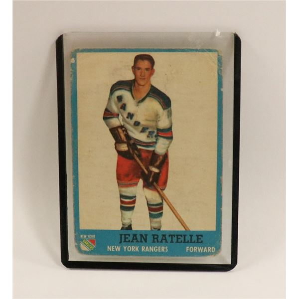 1962 TOPPS JEAN RATELLE ROOKIE CARD