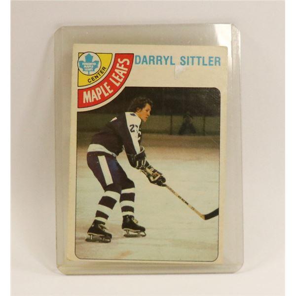 1978 DARRYL SITTLER HOCKEY CARD