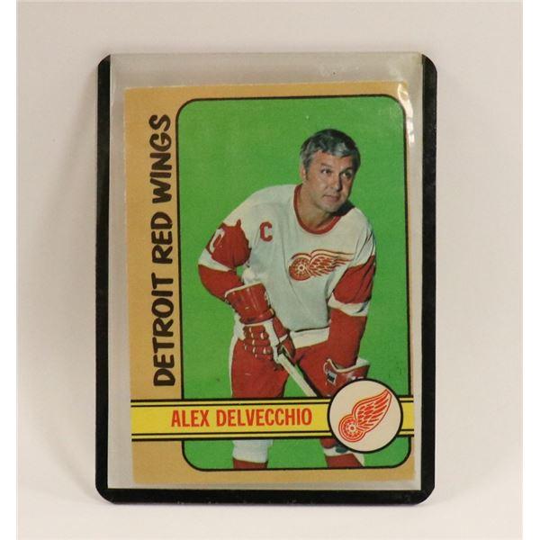 1972 ALEX DELVECCHIO HOCKEY CARD