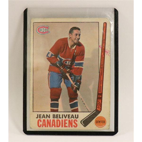 1969 JEAN BELIVEAU HOCKEY CARD