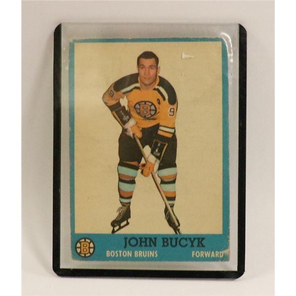1962 JOHN BUCYK HOCKEY CARD