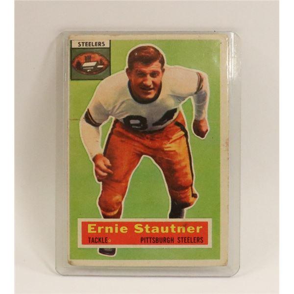 1956 TOPPS FOOTBALL ERNIE STAUTNER HOF CARD