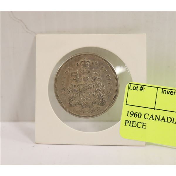 1960 CANADIAN SILVER 50 CENT PIECE
