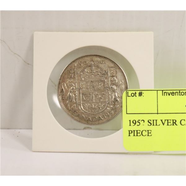 1952 SILVER CANADIAN 50 CENT PIECE