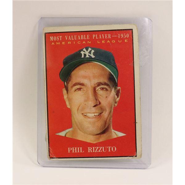 1950 PHIL RIZZUTO MVP BASEBALL