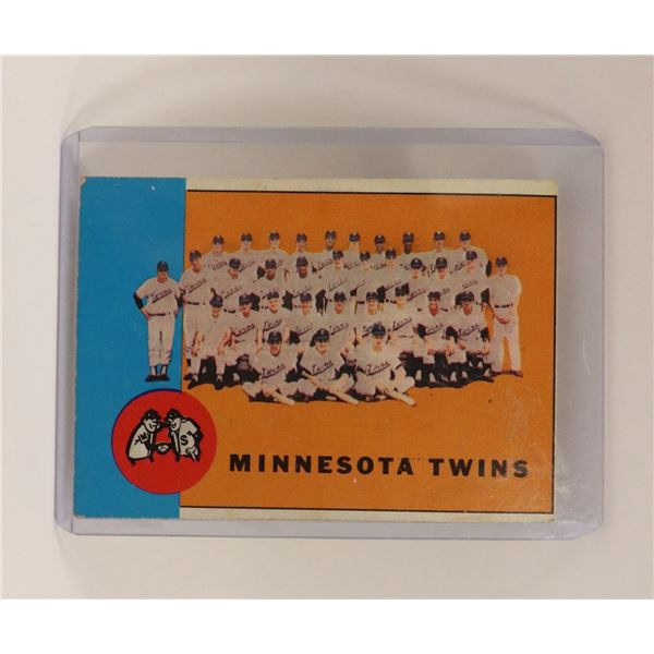 1962 MINNESOTA TWINS BASEBALL CARD