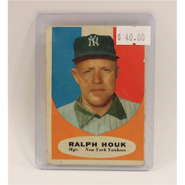 1954 RALPH HOUK YANKEES MANAGER BASEBALL CARD