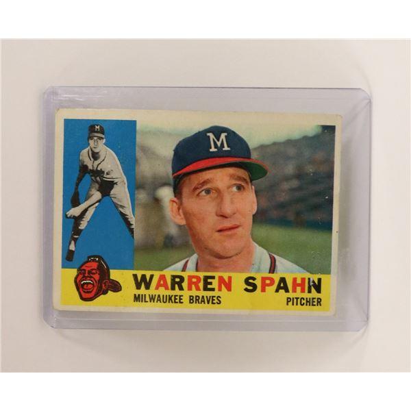 1962 WARREN SPAHN BASEBALL CARD HOF