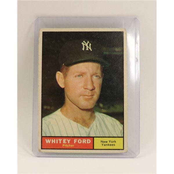 1961 WHITEY FORD BASEBALL CARD