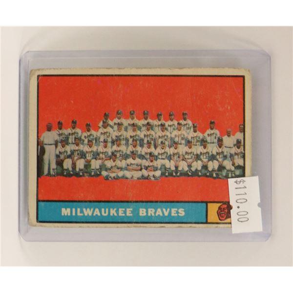 1961 MILWAUKEE BRAVES BASEBALL CARD