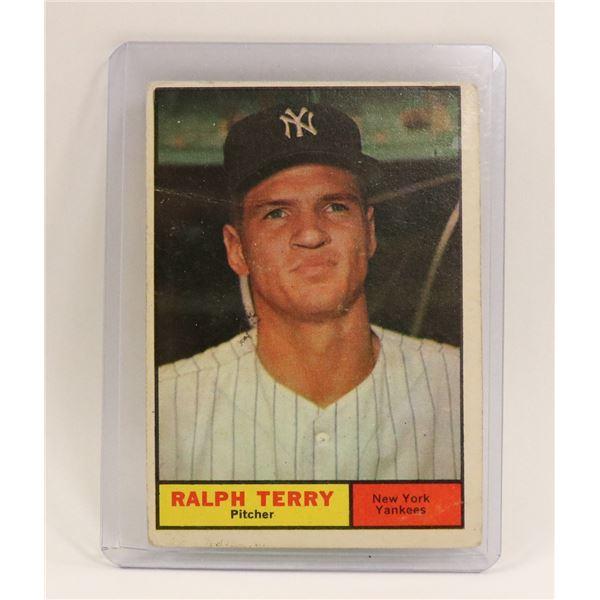 1961 RALPH TERRY ROOKIE CARD