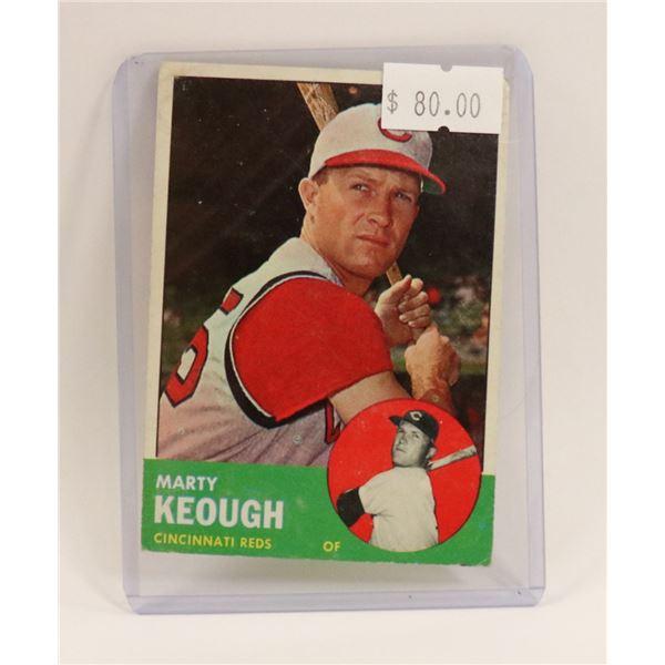 1963 MARTY KEOUGH BASEBALL CARD HOF