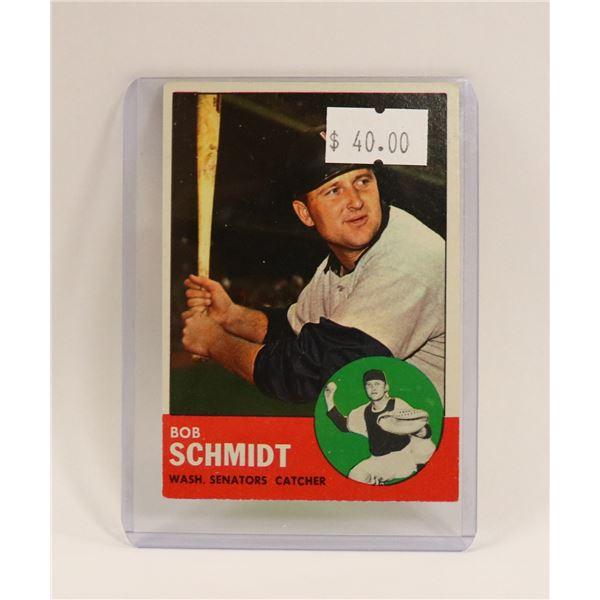 1963 BOB SCHMIDT BASEBALL CARD