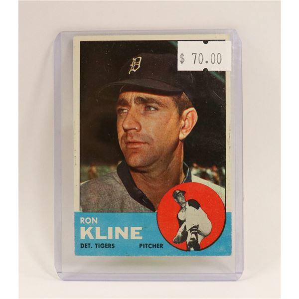 1963 RON KLINE BASEBALL CARD