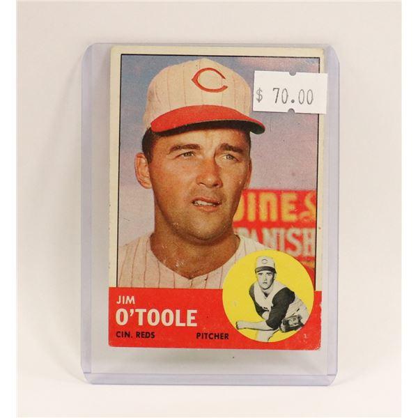 1963 JIM O TOOLE BASEBALL CARD