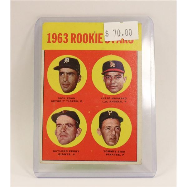 1963 GAYLORD PERRY ROOKIE STAR CARD