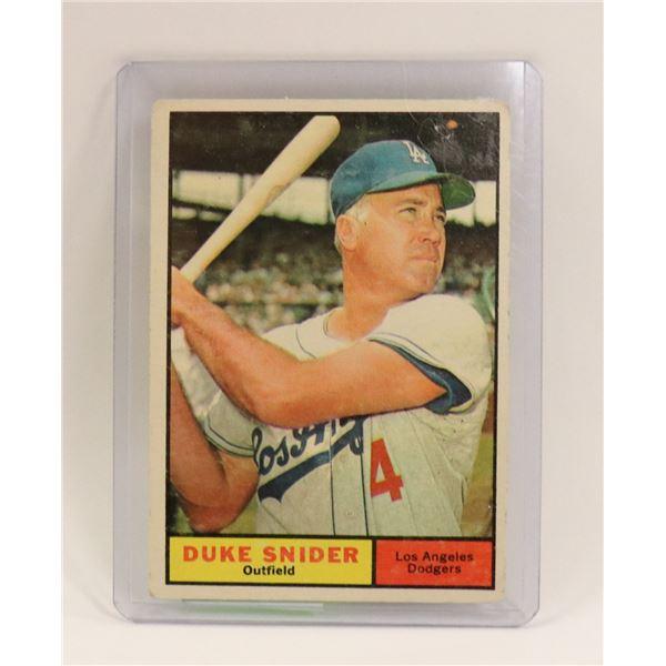1961 DUKE SNIDER BASEBALL CARD