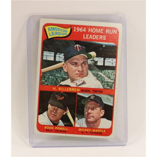 1964 MICKEY MANTLE HOME RUN BASEBALL CARD