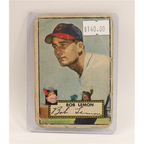 1952 TOPPS BOB LEMON BASEBALL CARD