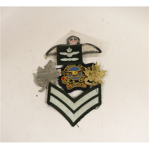 ASSORTED MILITARY BADGES AND PATCHES