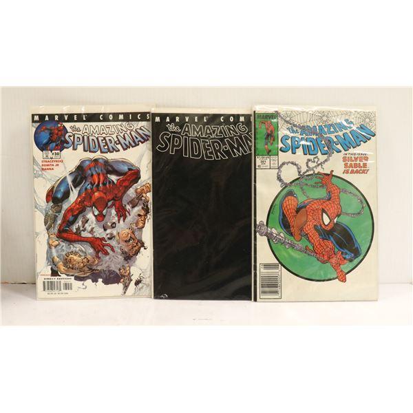 LOT OF THREE COLLECTOR SPIDER-MAN COMICS