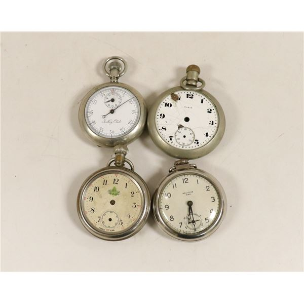 LOT OF FOUR ANTIQUE POCKET WATCHES FOR REPAIR