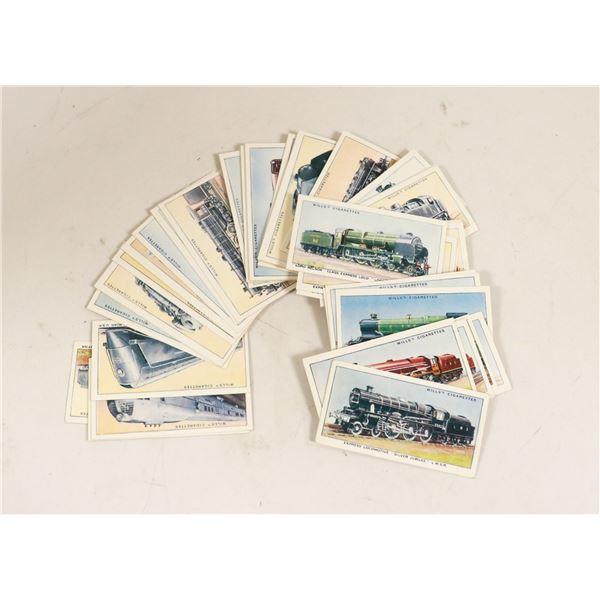SET OF TOBACCO CARDS RAILWAY THEME