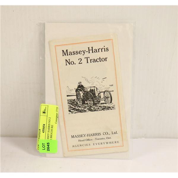 1900S MASSEY HARRIS NO 2 TRACTOR BROCHURE