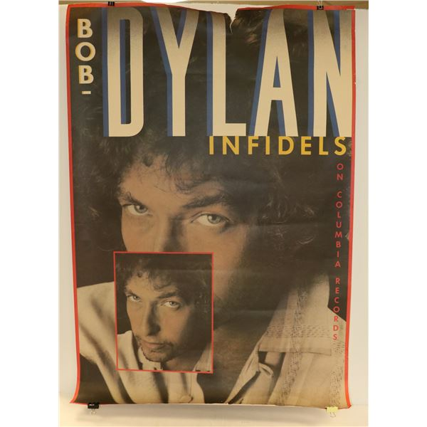 ORIGINAL BOB DYLAN INFIDELS MUSIC POSTER LARGE