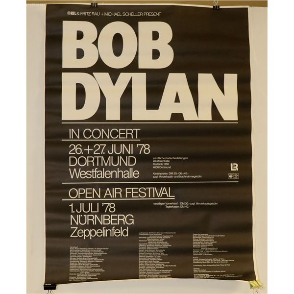 ORIGINAL BOB DYLAN GERMAN CONCERT POSTER