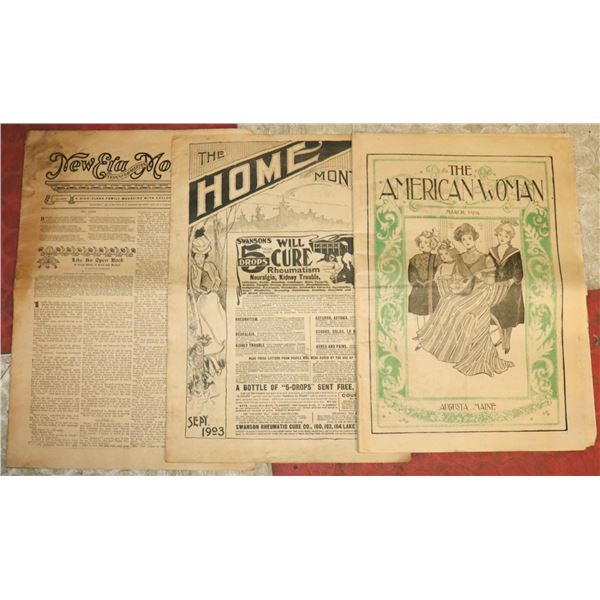 LOT OF 3 1900S FASHION PAPERS