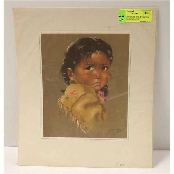 VINTAGE PICTURE OF INDIGENOUS CHILD BY OXBOROUGH