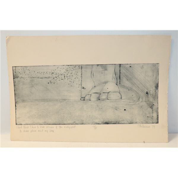 1978 STUDY ON PAPER SIGNED C LIEBERMAN