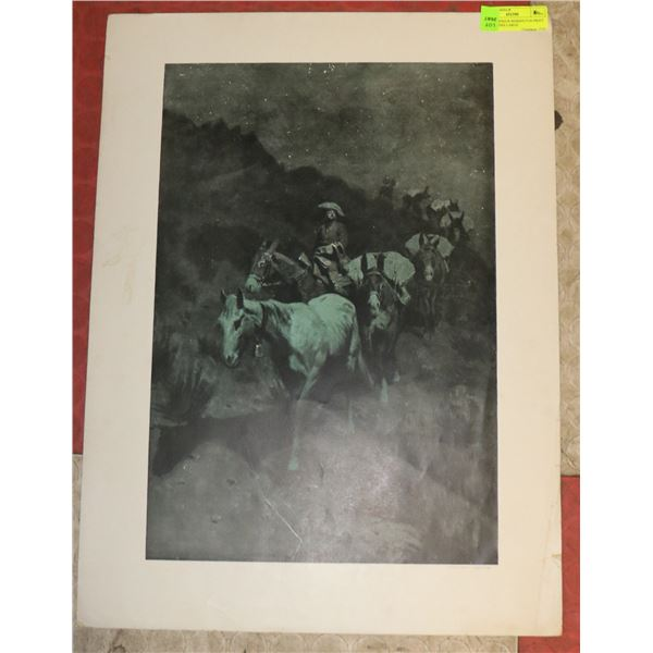 1906 FREDERICK REMINGTON PRINT BY COLLIERS LARGE