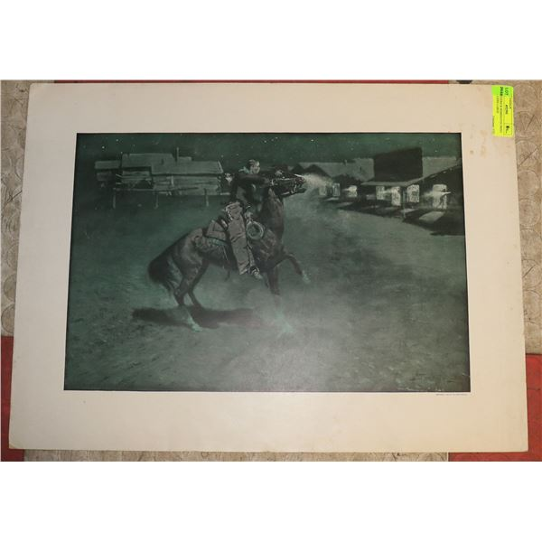 1908 FREDERICK REMINGTON PRINT BY COLLIERS LARGE