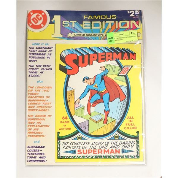 VINTAGE FIRST EDITION SUPERMAN RE RELEASE COMIC