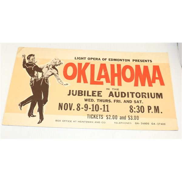 1950S STREET CAR ADVERTISING SIGN FOR OKLAHOMA