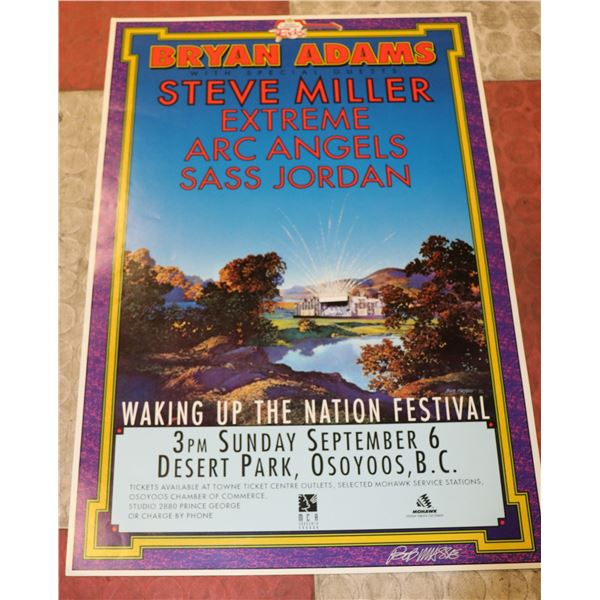 WAKING UP THE NATION CONCERT POSTER