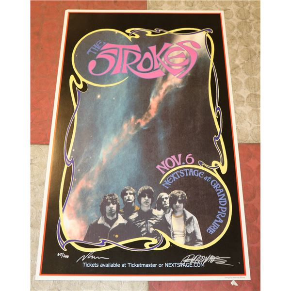 THE STROKES SIGNED POSTER BY BOB MASSE