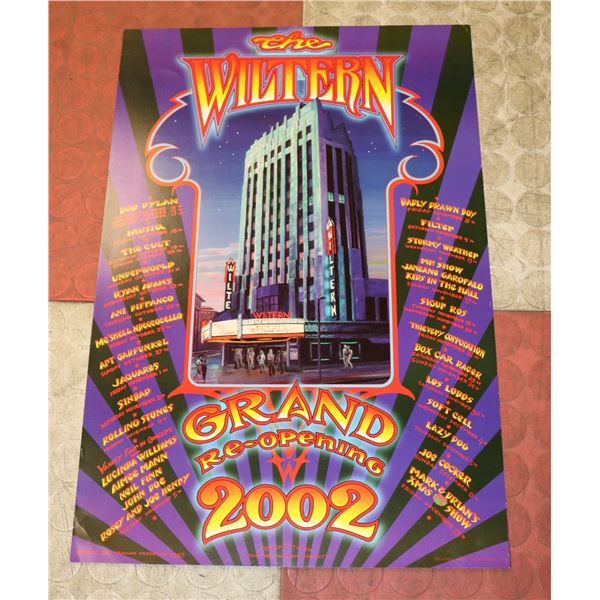 THE WILTERN CONCERT POSTER