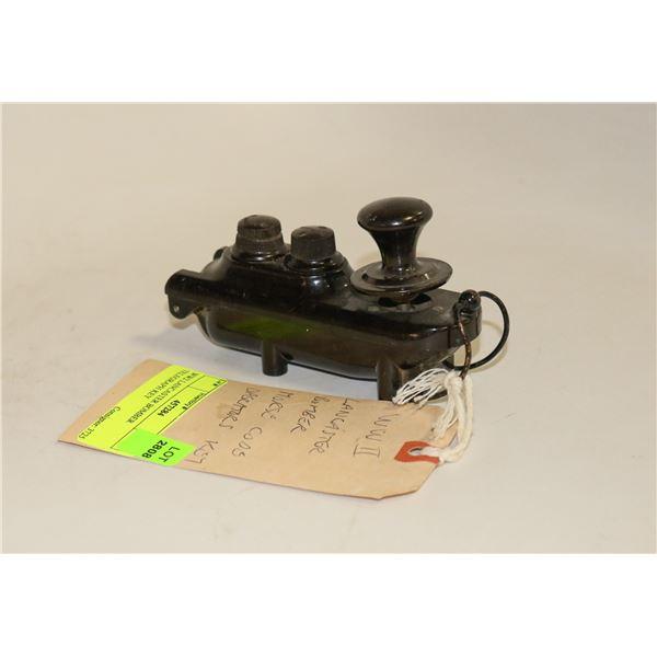 WW2 LANCASTER BOMBER TELEGRAPH KEY