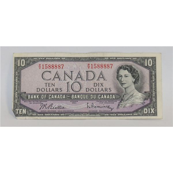1954 CANADIAN $10 BILL COLLECTIBLE