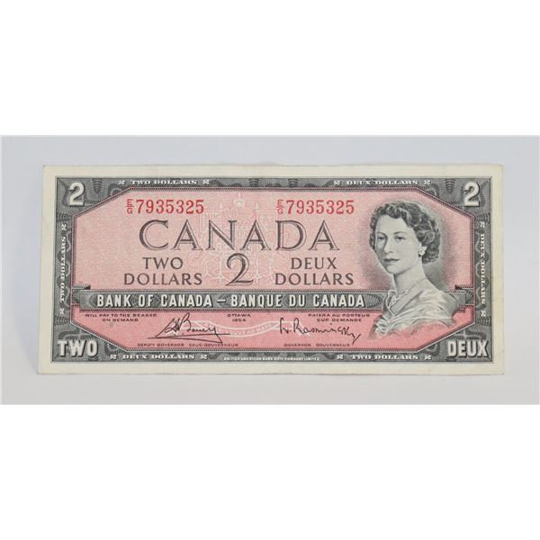 1954 CANADIAN $2 BILL COLLECTIBLE