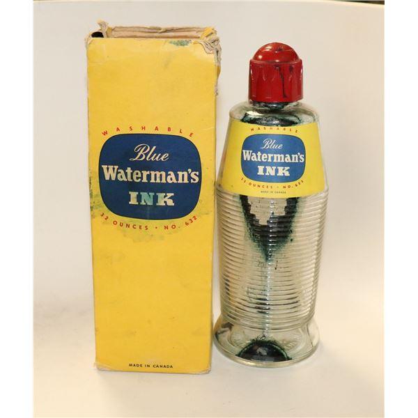 1950S WATERMAN INK BOTTLE IN ORIG BOX